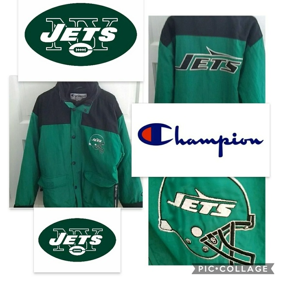 fa99fc56 VTG NY Jets CHAMPION Jacket With Hood Size M